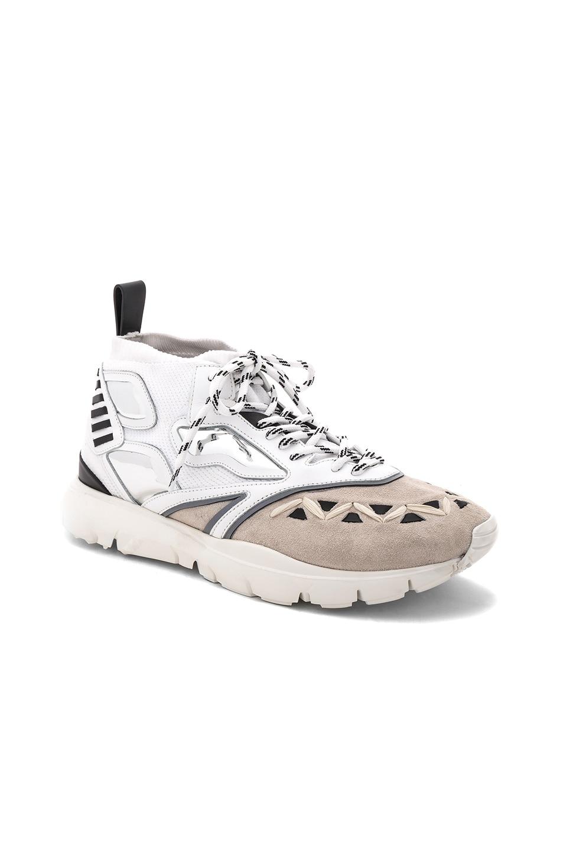 Image 1 of Valentino Garavani Sneaker in White & Black & Mirror