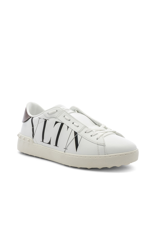 Image 1 of Valentino Logo Sneaker in White