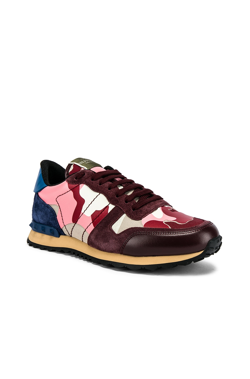 Image 1 of Valentino Camouflage Sneaker in Pink