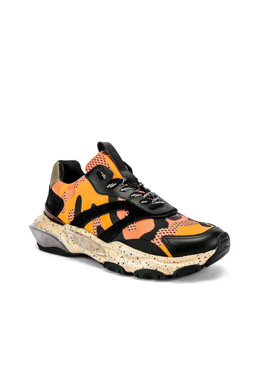 Image 1 of Valentino Low Top Sneaker in Multi & Orange