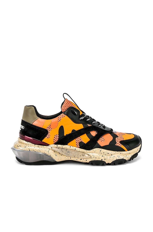 Image 2 of Valentino Low Top Sneaker in Multi & Orange