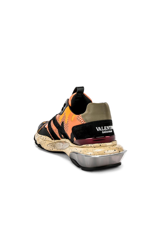 Image 3 of Valentino Low Top Sneaker in Multi & Orange