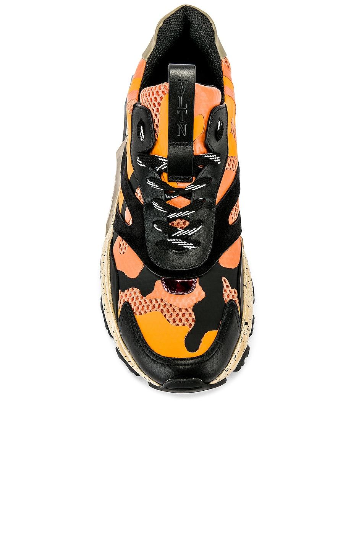 Image 4 of Valentino Low Top Sneaker in Multi & Orange
