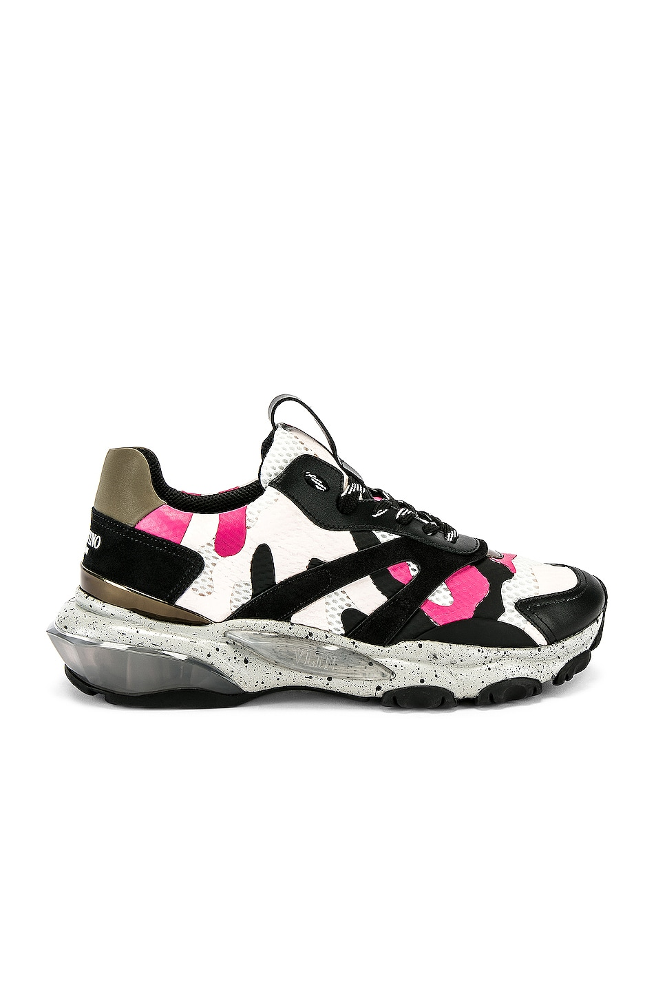 Image 2 of Valentino Low Top Sneaker in Multi & Pink