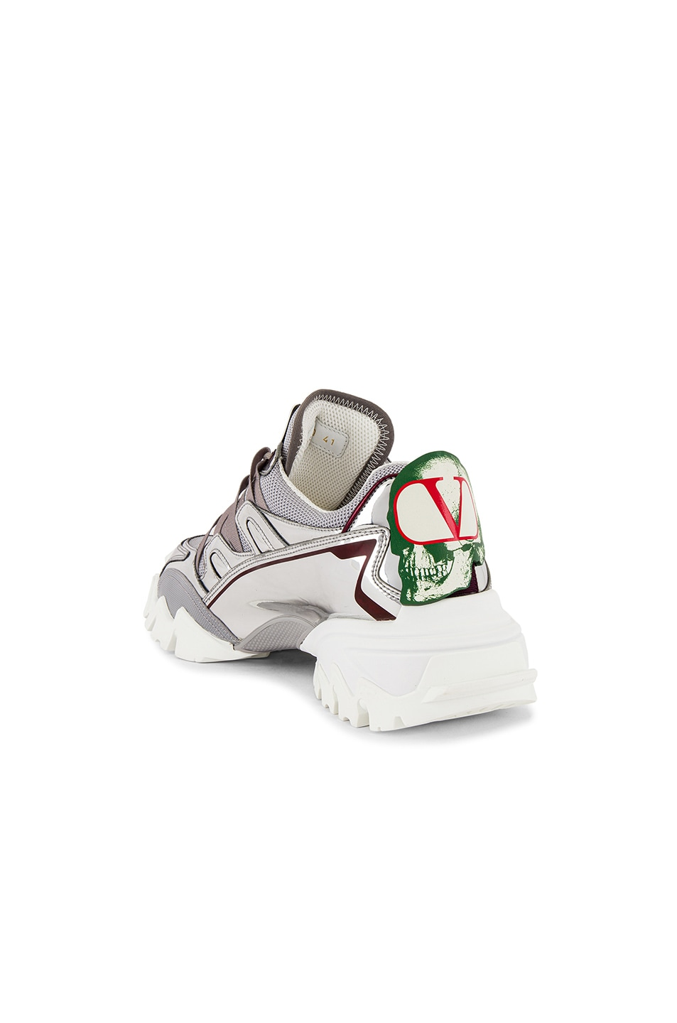 Image 3 of Valentino Climbers VGU Undercover Sneaker in White & Silver