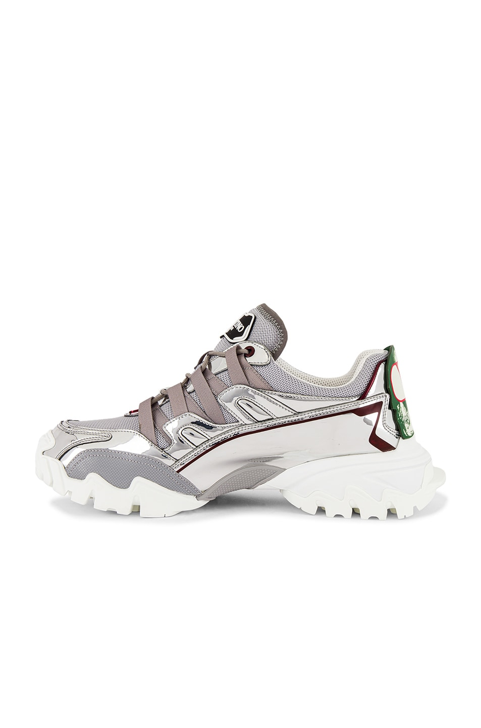 Image 5 of Valentino Climbers VGU Undercover Sneaker in White & Silver