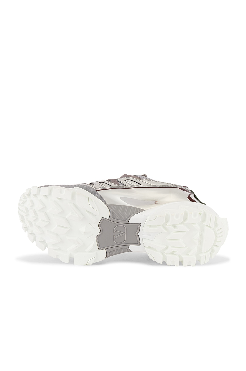 Image 6 of Valentino Climbers VGU Undercover Sneaker in White & Silver