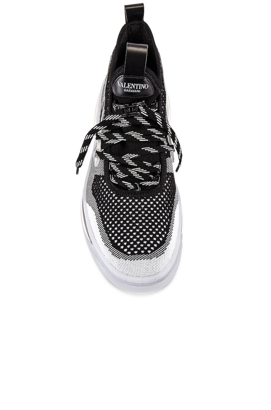 Image 4 of Valentino Low Top Sneaker in White & Black & Transparent