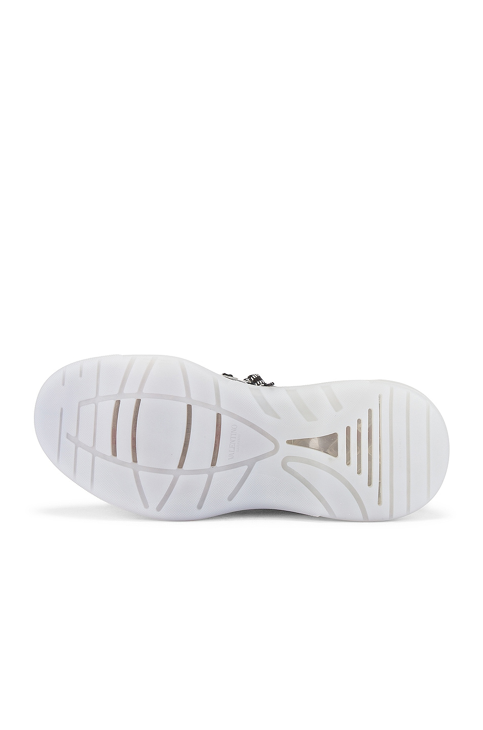 Image 6 of Valentino Low Top Sneaker in White & Black & Transparent