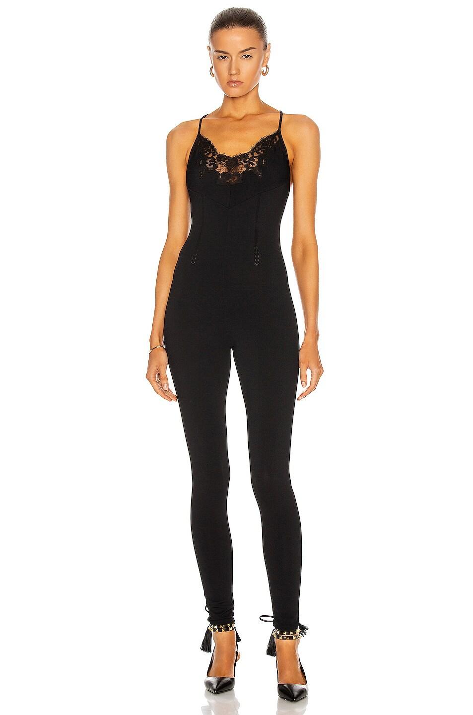 Image 1 of Valentino Sleeveless Skinny Jumpsuit in Nero