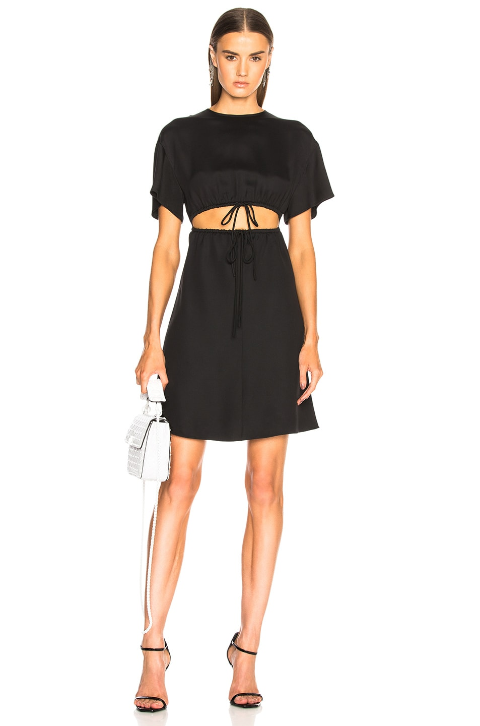 Valentino Cutout Mini Dress in Black
