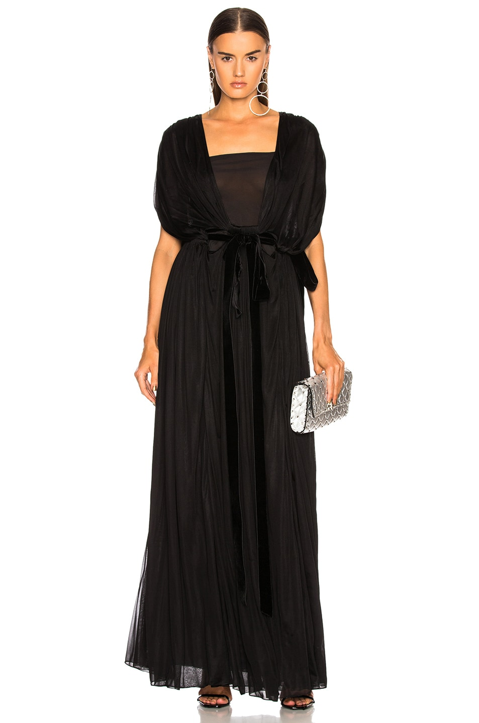 Image 2 of Valentino Plunging Gown in Black