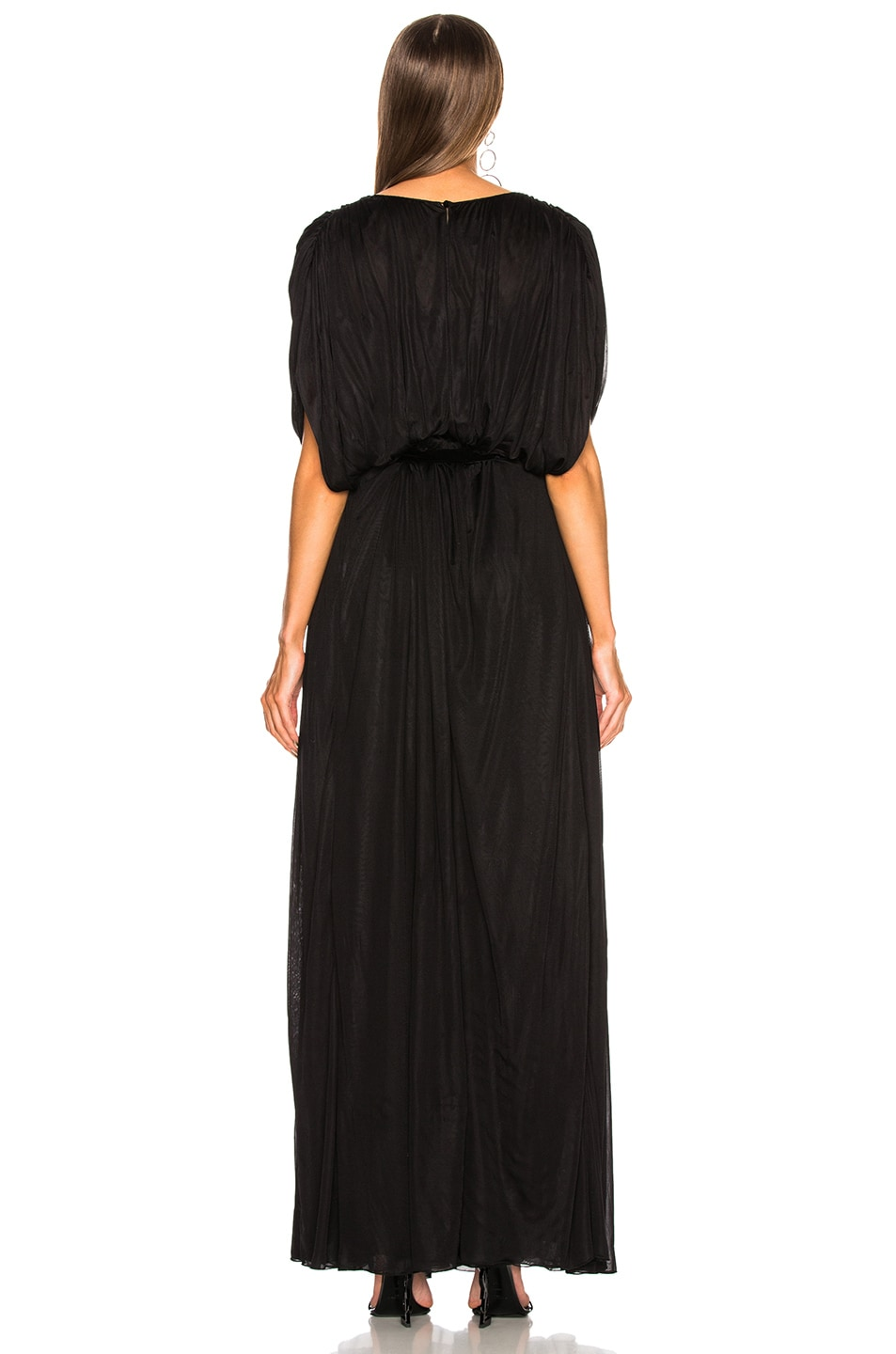 Image 4 of Valentino Plunging Gown in Black