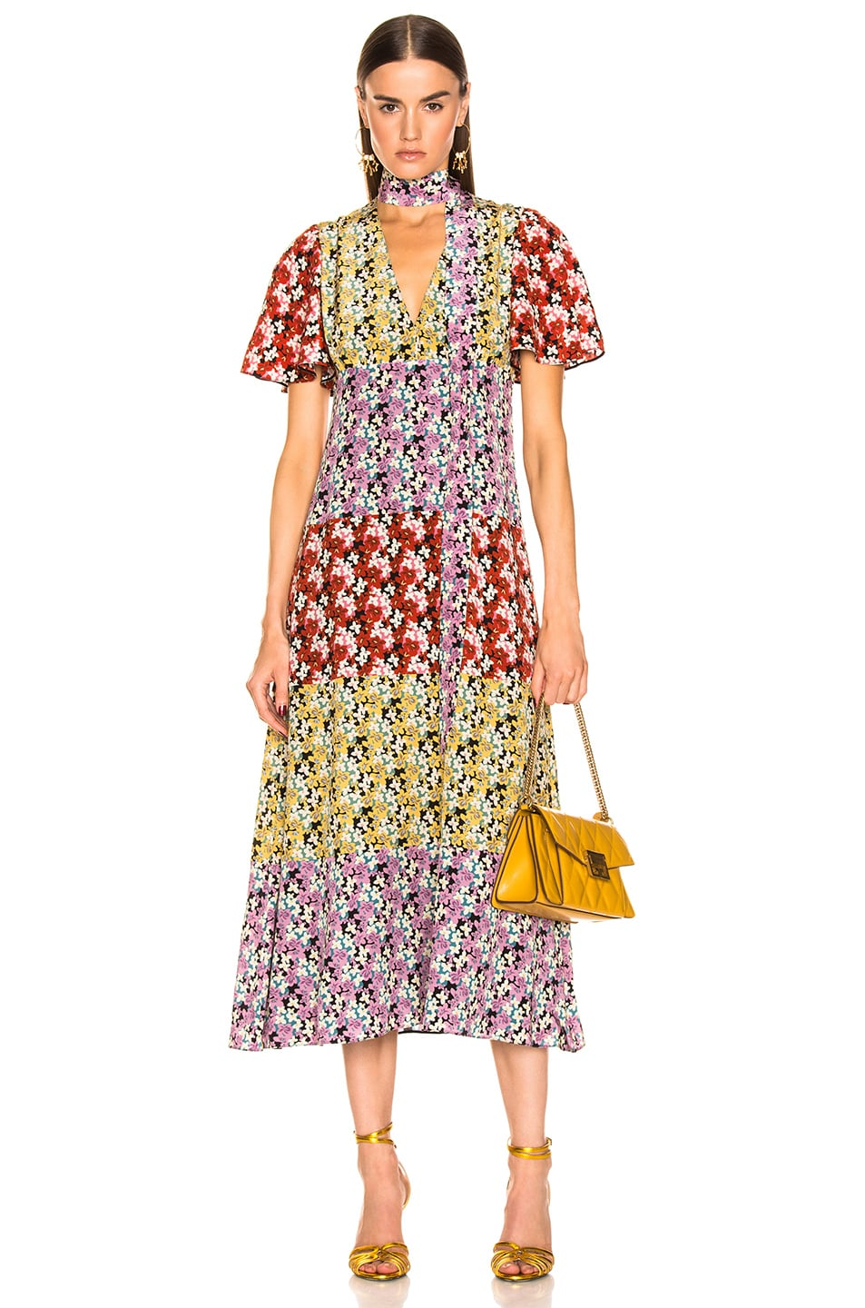 Image 1 of Valentino Spring Garden Dress in Multi