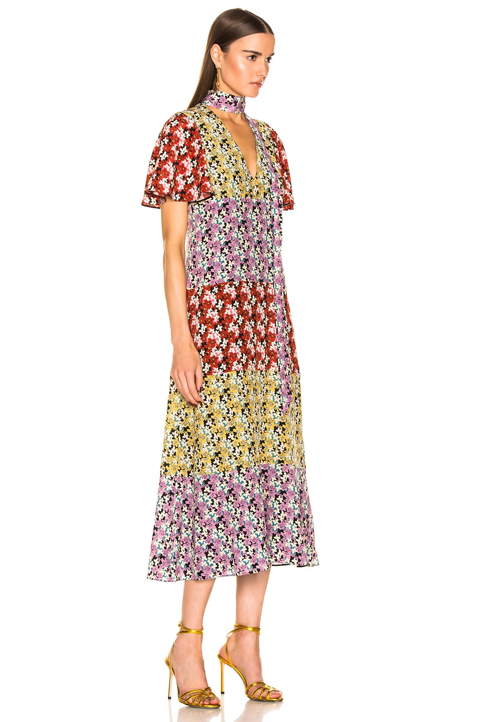 Image 2 of Valentino Spring Garden Dress in Multi