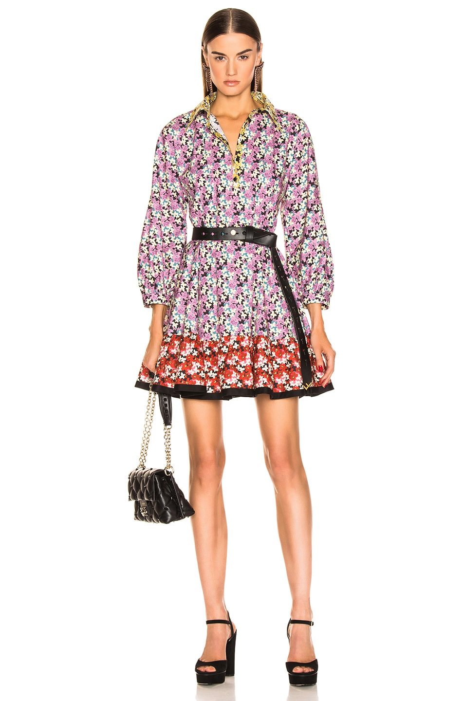 Image 1 of Valentino Popeline Spring Garden Dress in Multi