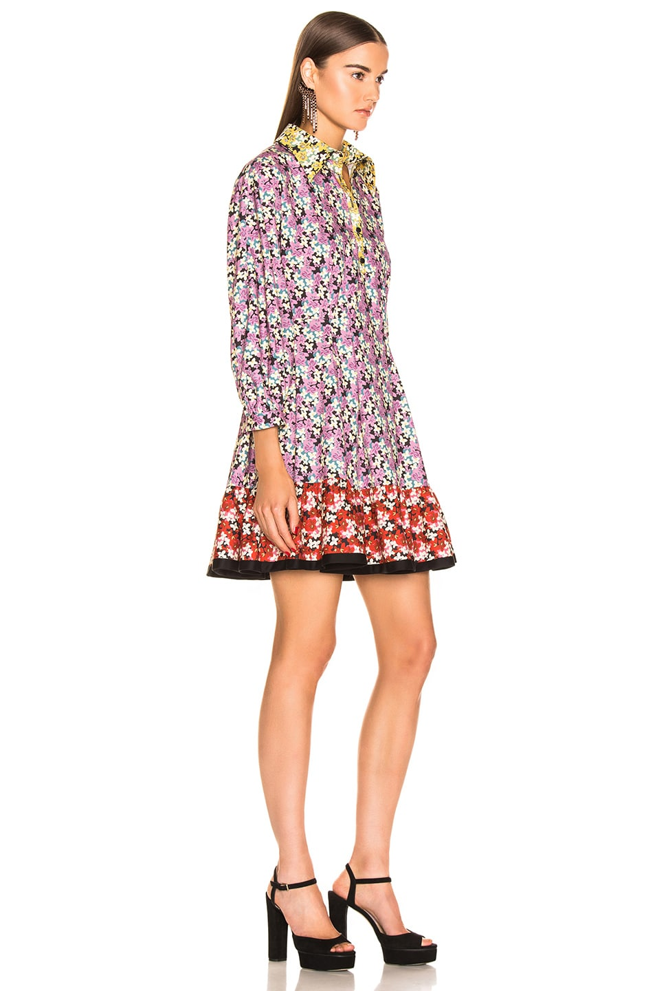 Image 2 of Valentino Popeline Spring Garden Dress in Multi