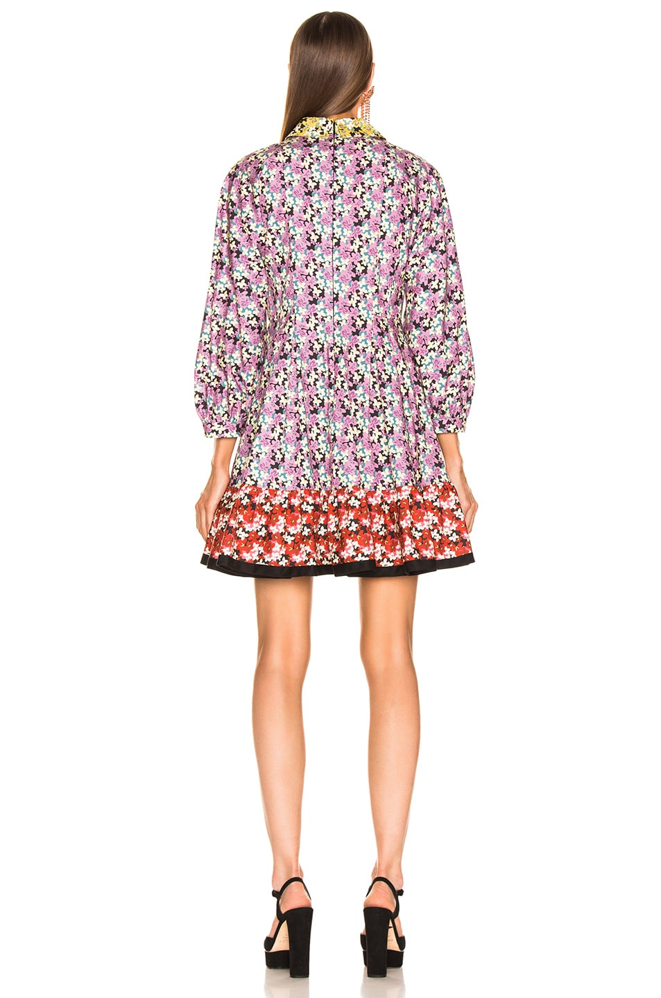 Image 3 of Valentino Popeline Spring Garden Dress in Multi