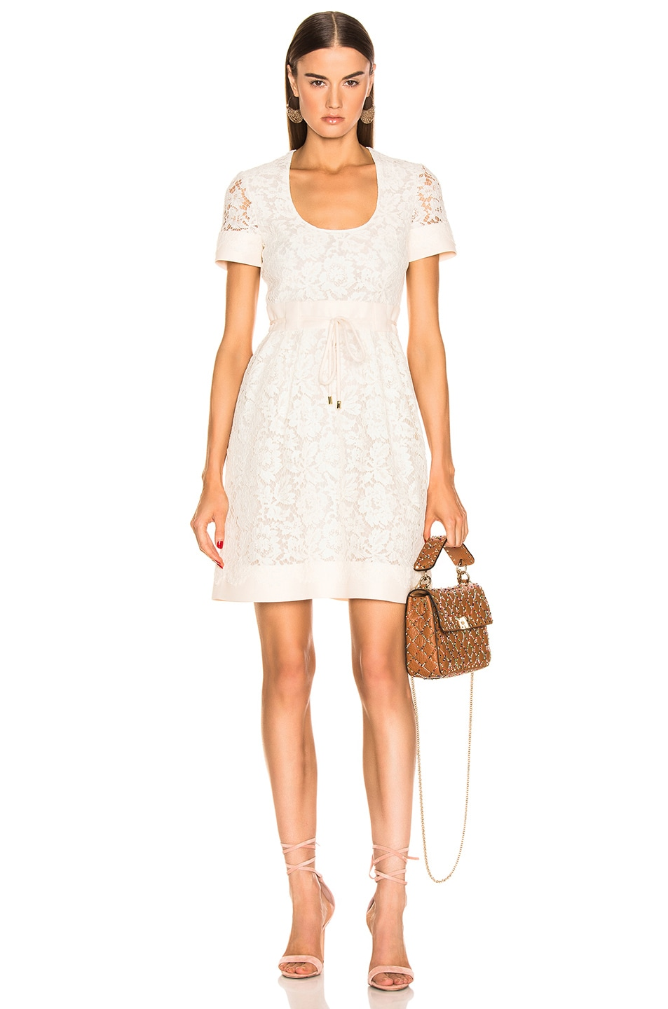 Image 1 of Valentino Lace Dress in Ivory