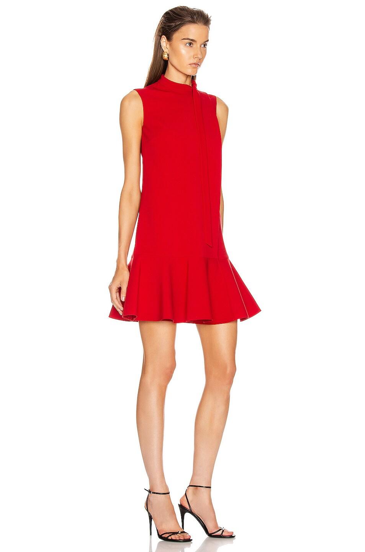 Image 2 of Valentino Sleeveless Peplum Dress in Red