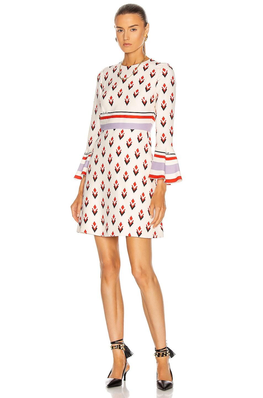 Image 1 of Valentino Printed Mini Dress in Multicolor