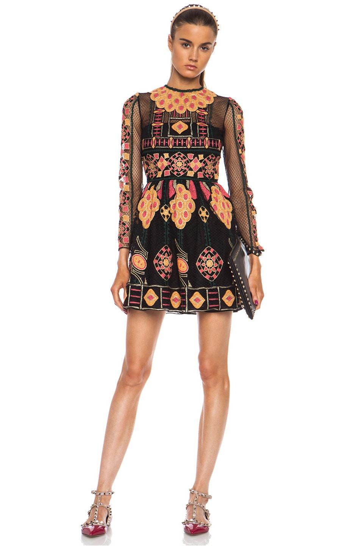 Image 1 of Valentino Bambolina Polyamide Skirt Dress in Black