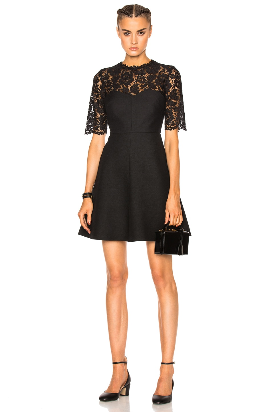 Genuine heavy lace couture dress - Black Valentino For Sale Official Site Sale Best Sale SGZa2bYZq