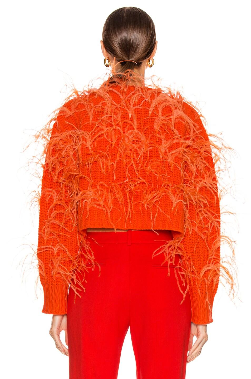 Image 3 of Valentino Feather Sweater in Cadmium