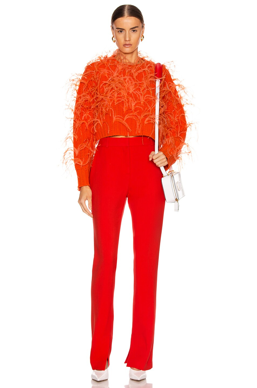 Image 4 of Valentino Feather Sweater in Cadmium