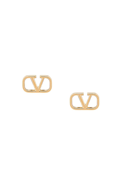 Image 1 of Valentino Garavani VLogo Earrings in Oro