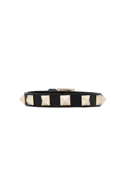 Image 1 of Valentino Rockstud Bracelet in Black