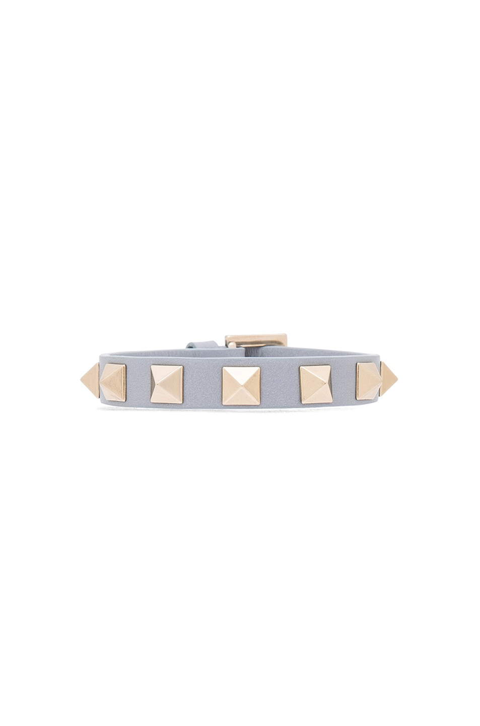Image 1 of Valentino Small Rockstud Bracelet in Water Sky