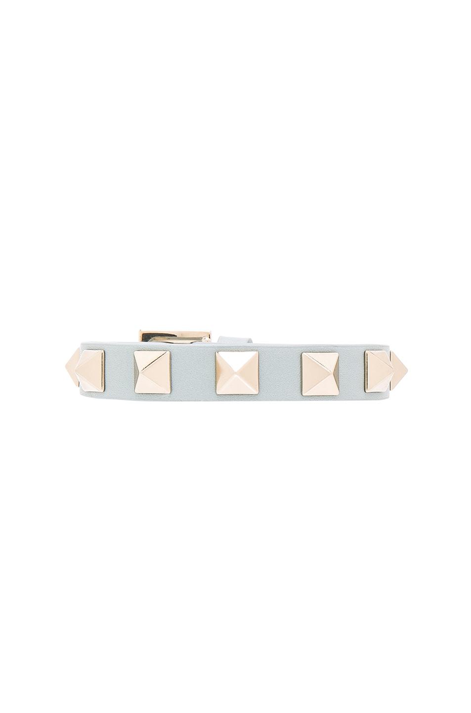 Image 1 of Valentino Rockstud Small Bracelet in Sky Sorbet