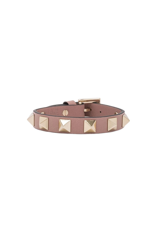 Image 1 of Valentino Rockstud Bracelet in Poudre