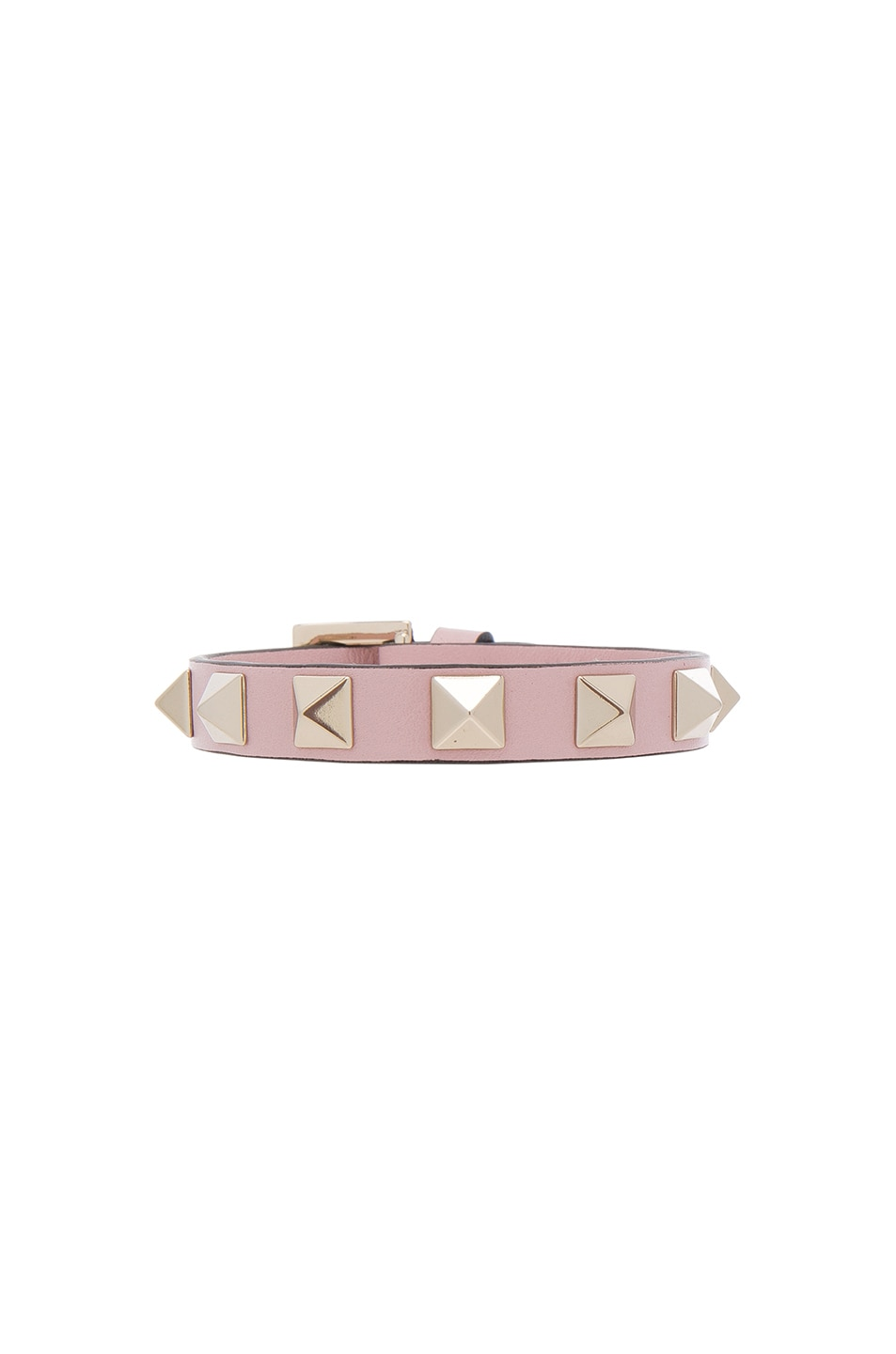 Image 1 of Valentino Rockstud Bracelet in Water Rose