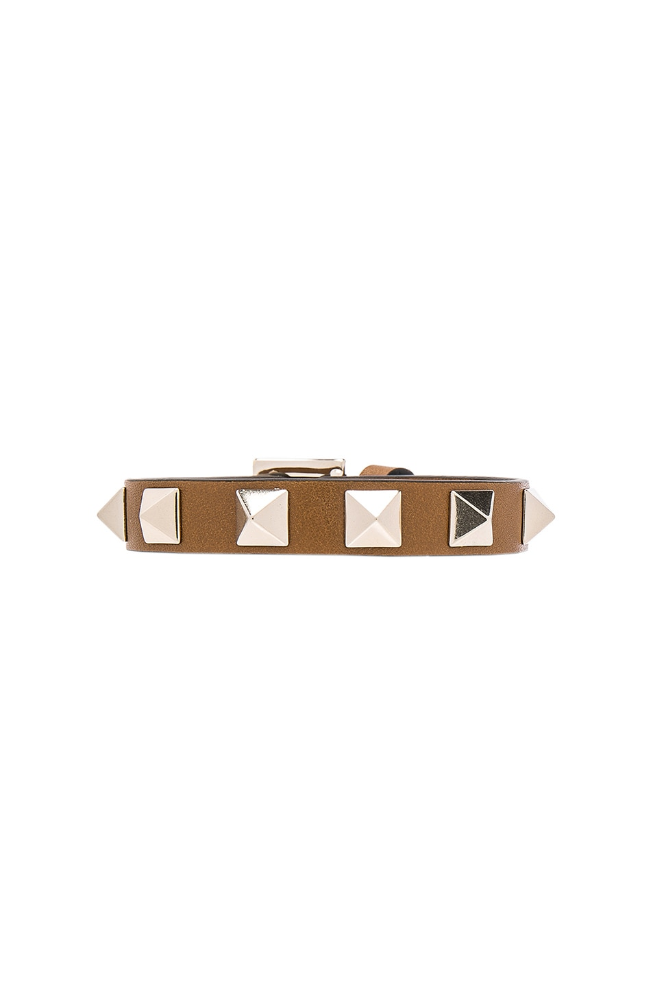 Image 1 of Valentino Rockstud Bracelet in Bright Cuir