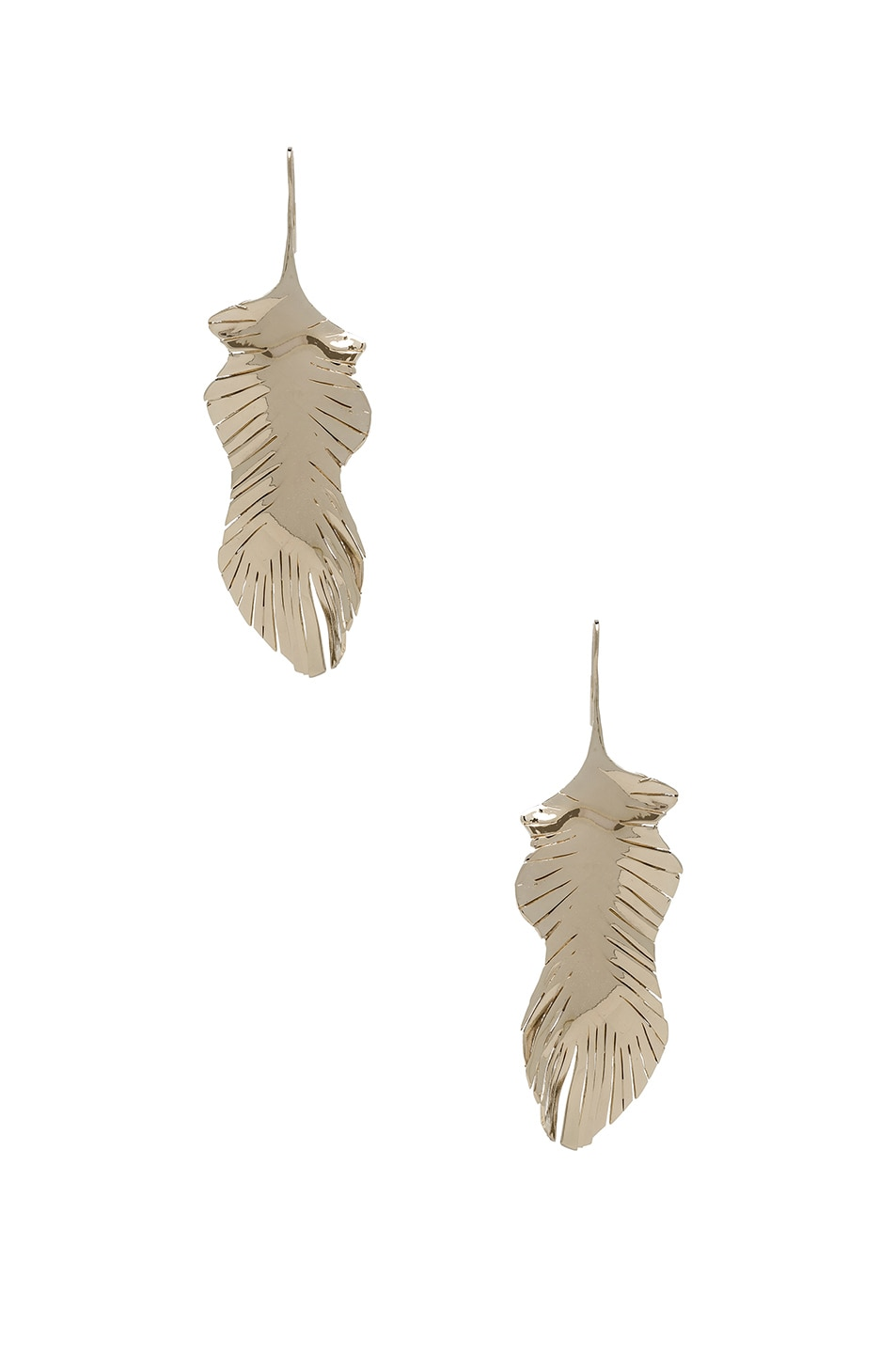 Image 1 of Valentino Cult Leaf Earrings in Platinum