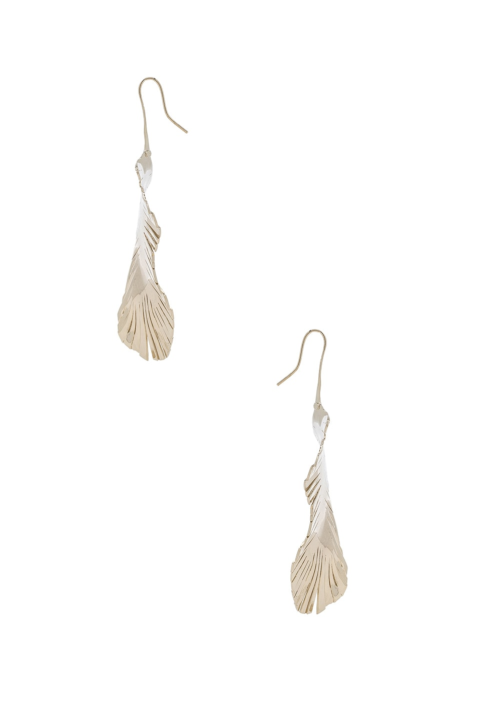 Image 2 of Valentino Cult Leaf Earrings in Platinum
