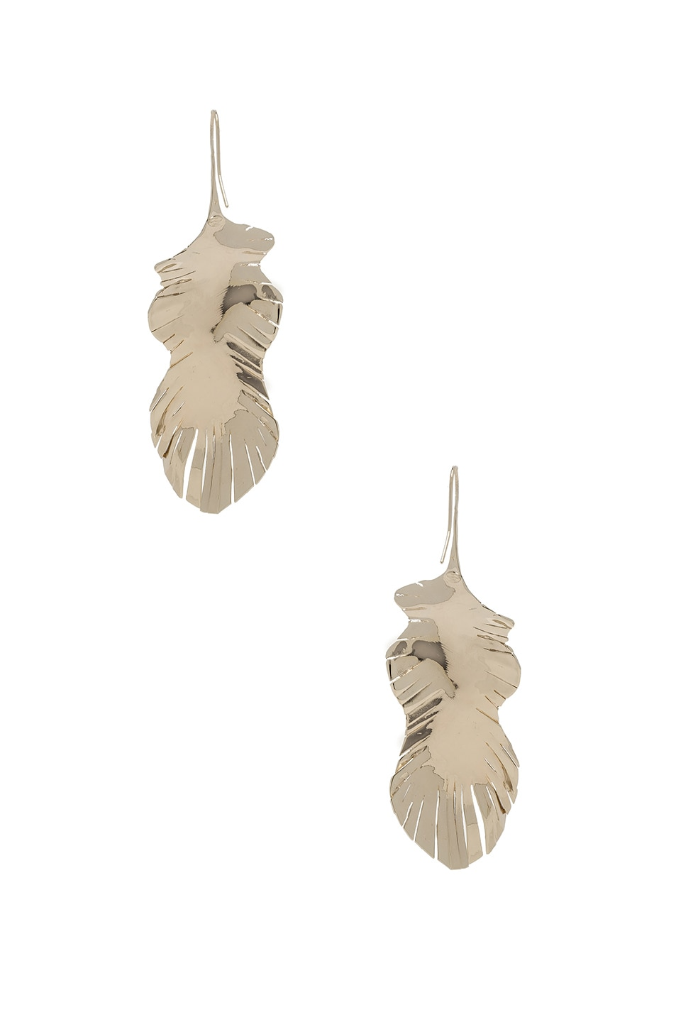 Image 3 of Valentino Cult Leaf Earrings in Platinum