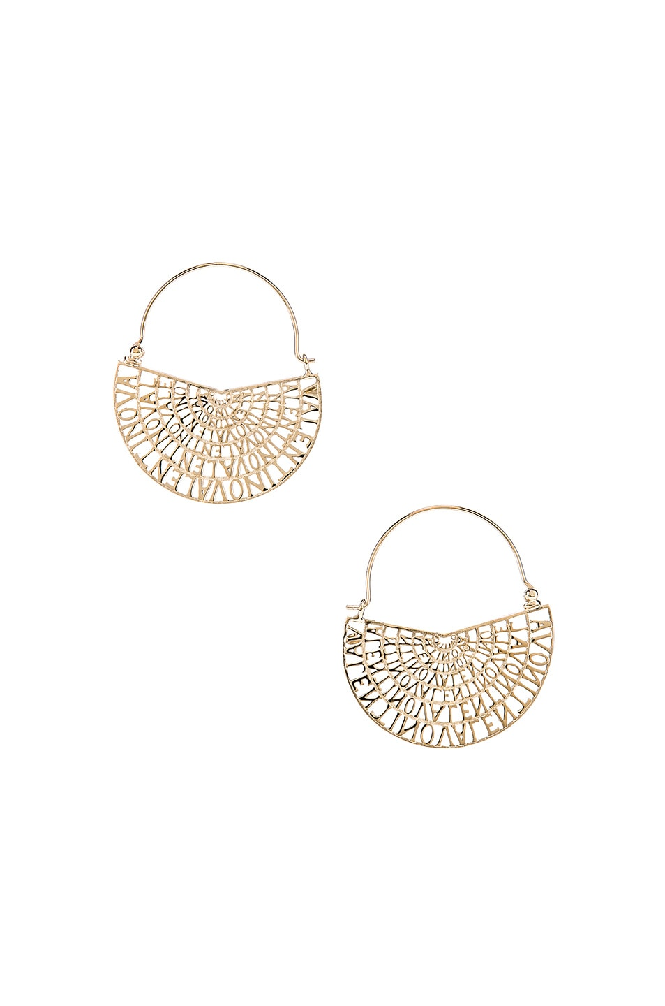 Image 1 of Valentino Logo Earrings in Platinum