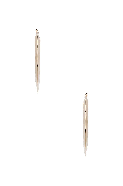 Image 3 of Valentino Logo Hoop Earrings in Platinum