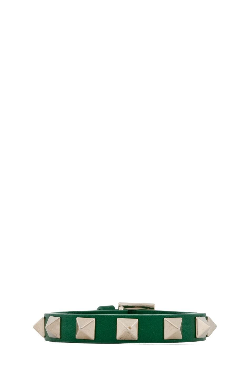 Image 1 of Valentino Rockstud Small Bracelet in Garden