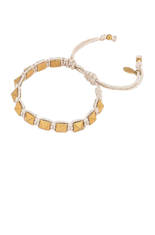 Image 1 of Valentino Garavani Rockstud Bracelet in Ivory