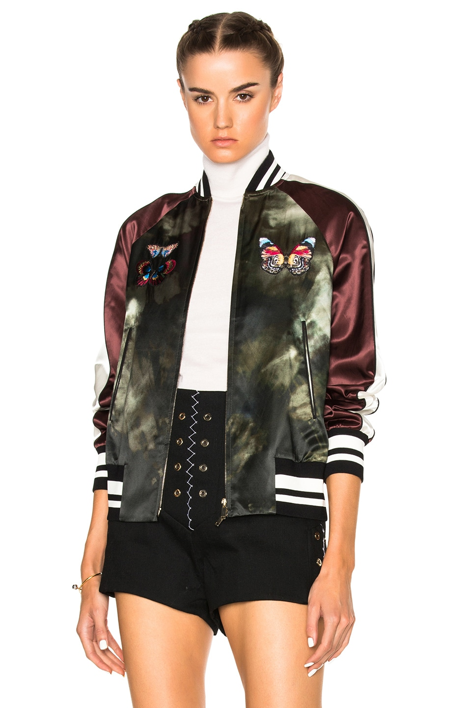 Image 1 of Valentino Butterfly Bomber Jacket in Multi