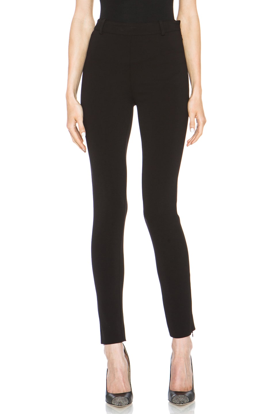Image 1 of Valentino Compact Jersey Legging in Black
