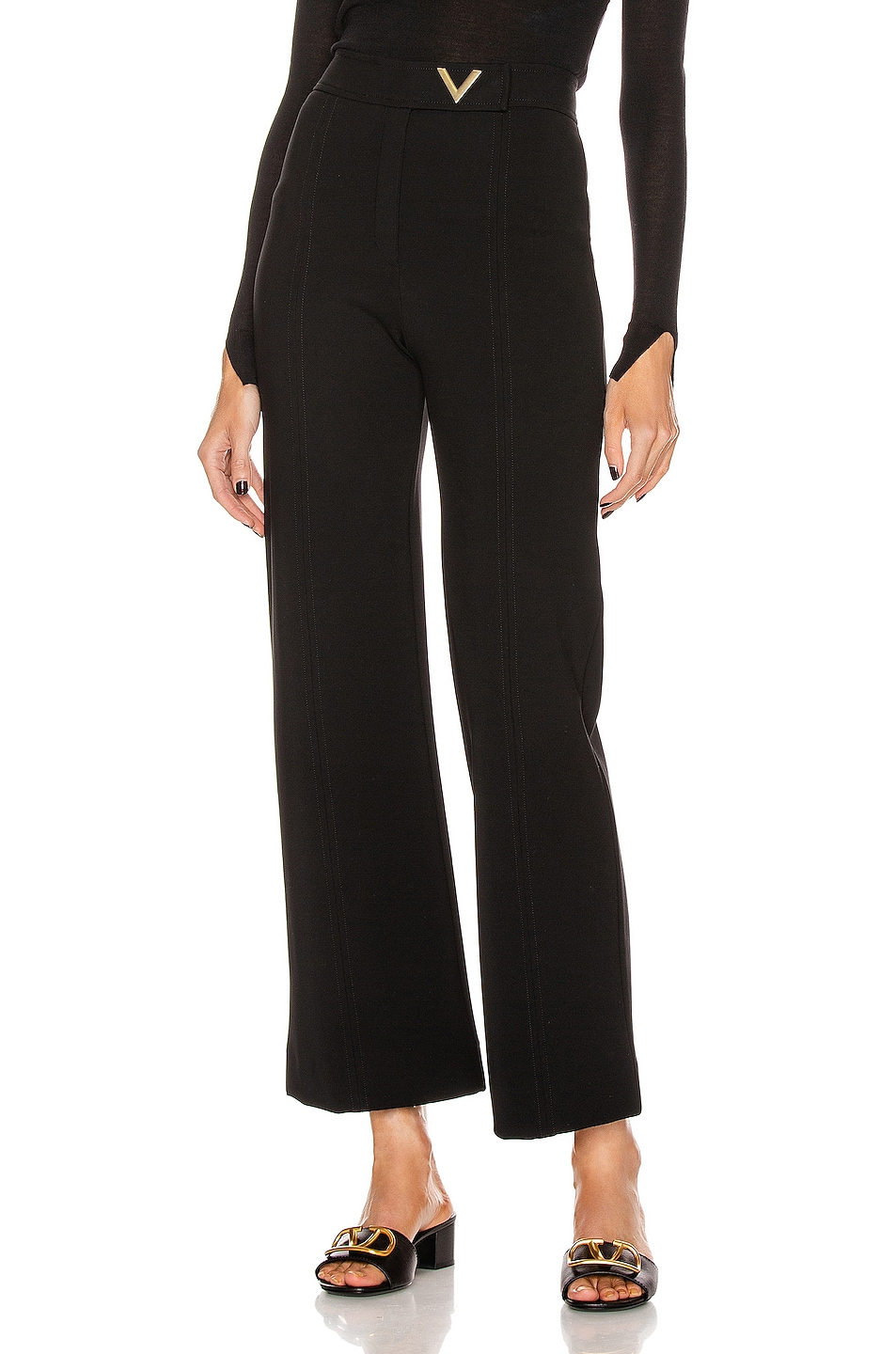 Image 1 of Valentino Tailored Pant in Black