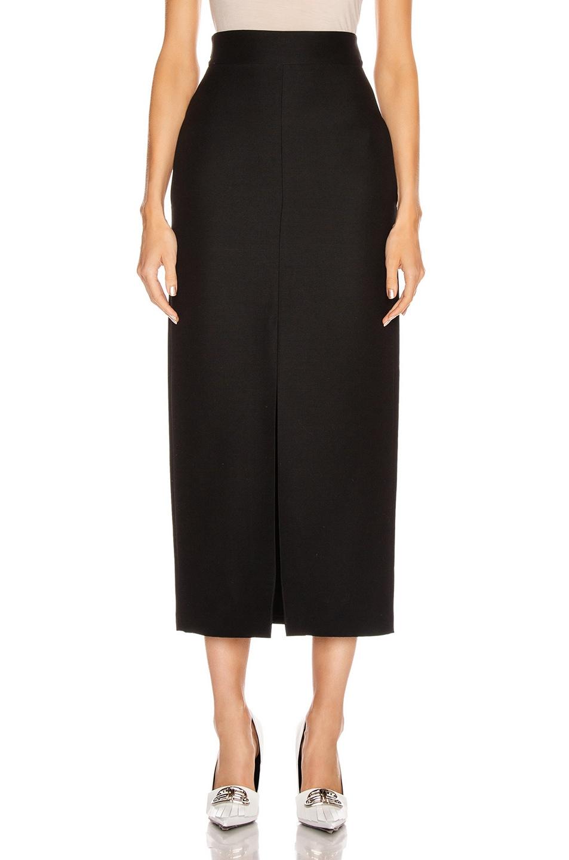 Image 1 of Valentino Slit Midi Skirt in Black