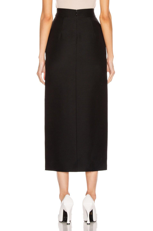Image 3 of Valentino Slit Midi Skirt in Black