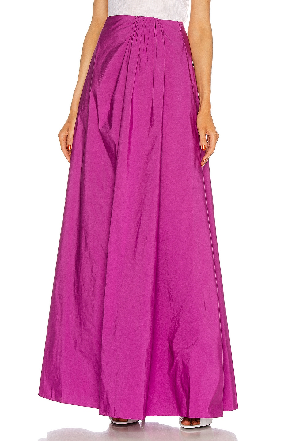 Image 1 of Valentino Maxi Skirt in Creamy Berry