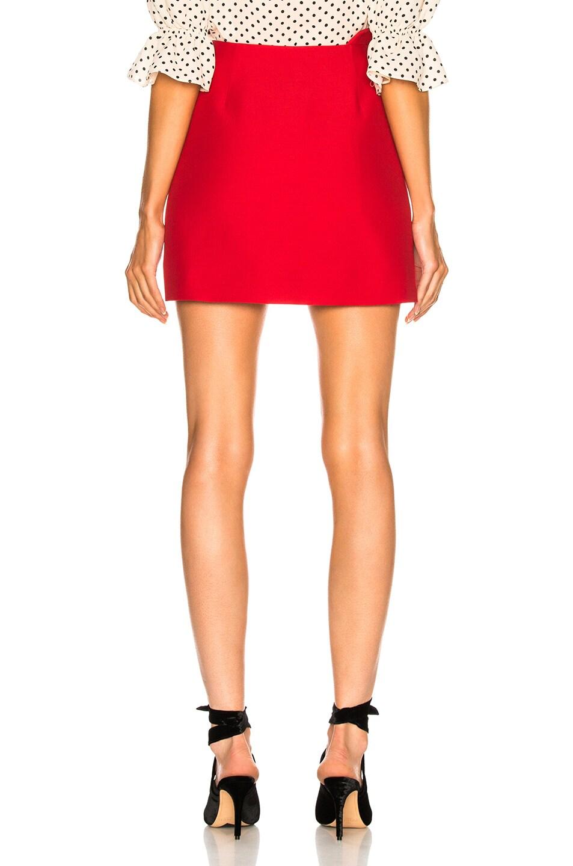 Image 3 of Valentino Ruffle Waist Mini Skirt in Red